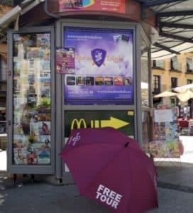 rutas de toledo gratis paraguas morado