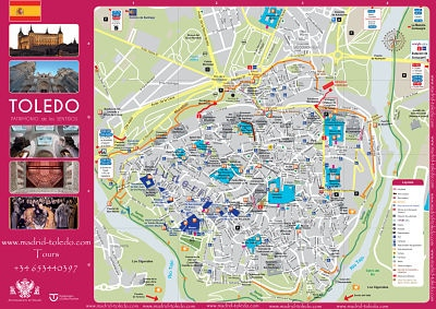 Mapa turistico de Toledo